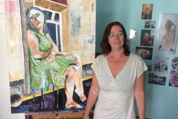 Astrid, painter in Belgrade