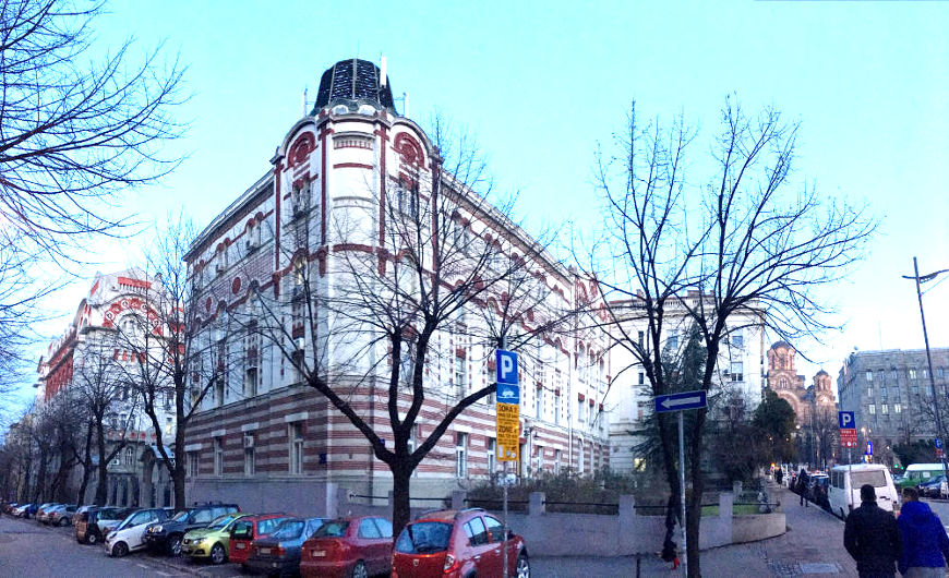 Old Telephone co. building viewed from Kosovska street