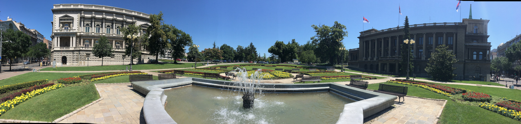 Panoramic view of Royal Garden