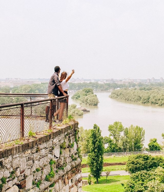 Couple on the Map at the Belgrade Fortess