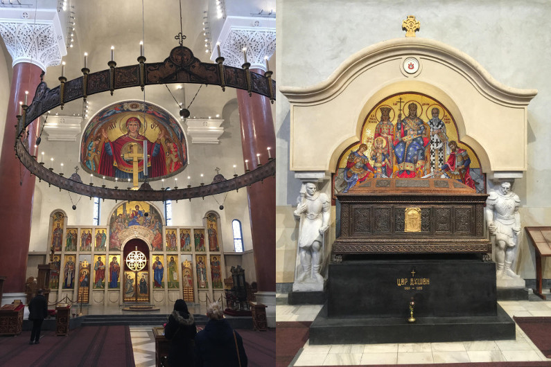 Iconostasis and Tomb of Emperor Dušan